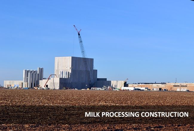 The milk processing facility is under construction